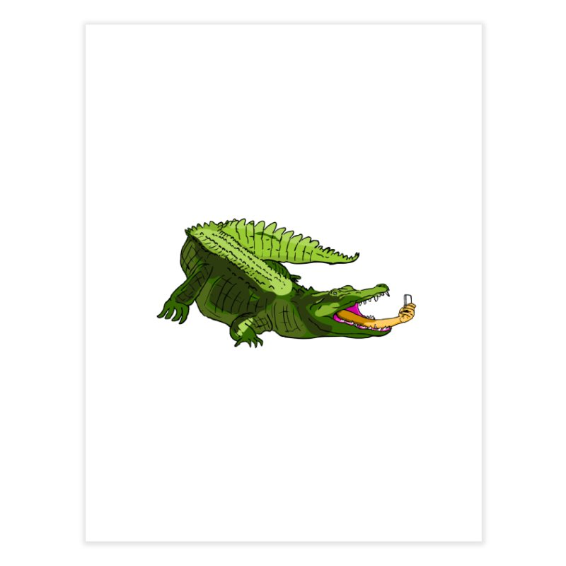 selfie with kroko Home Fine Art Print by mikbulp's Artist Shop