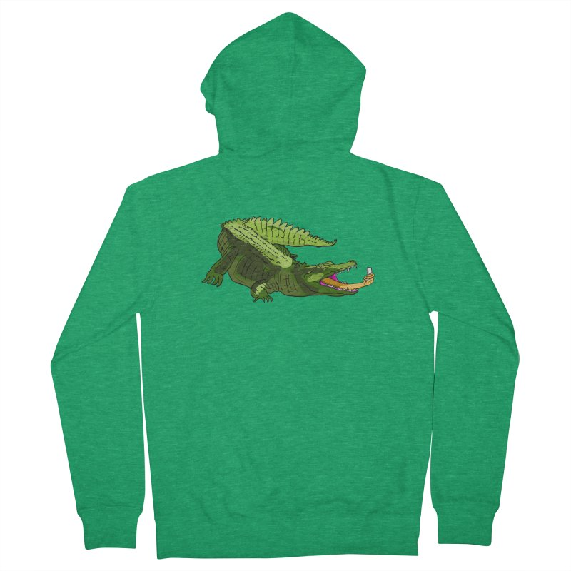 selfie with kroko Women's Zip-Up Hoody by mikbulp's Artist Shop