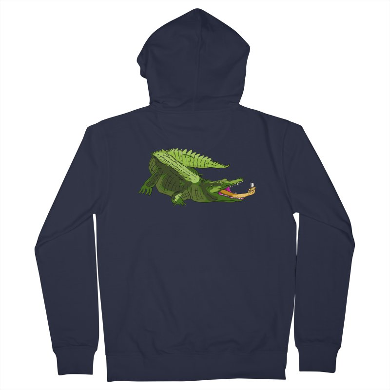 selfie with kroko Men's Zip-Up Hoody by mikbulp's Artist Shop