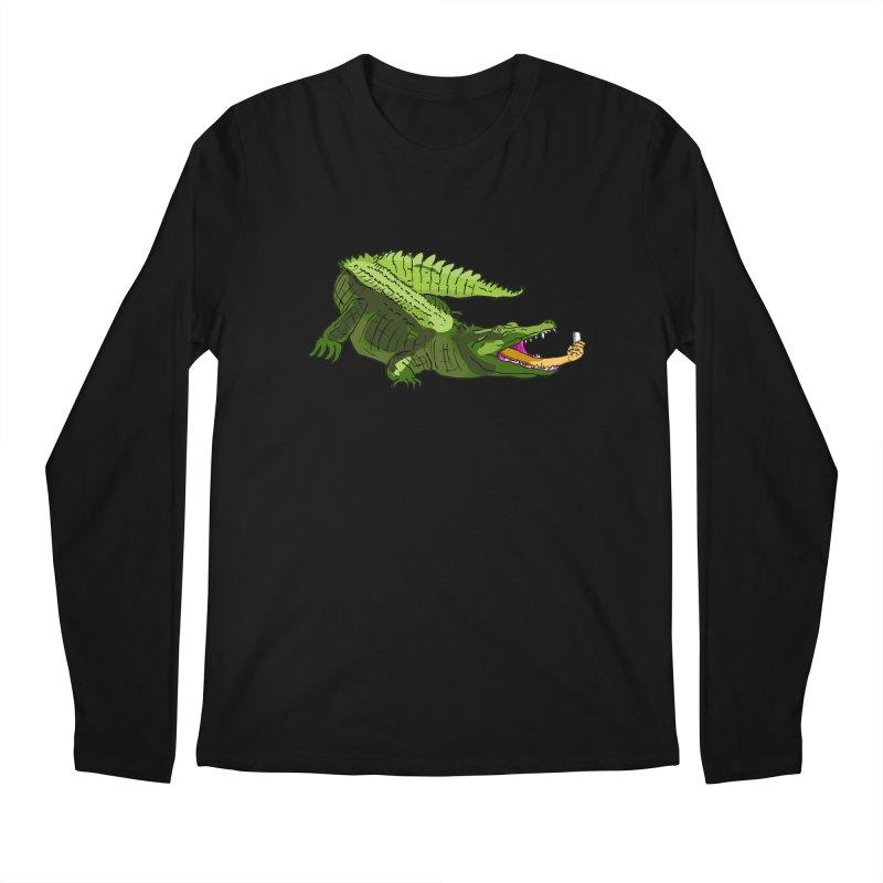 selfie with kroko Men's Longsleeve T-Shirt by mikbulp's Artist Shop