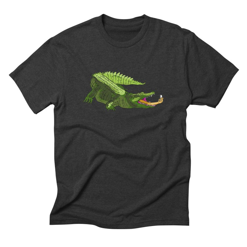 selfie with kroko Men's Triblend T-shirt by mikbulp's Artist Shop