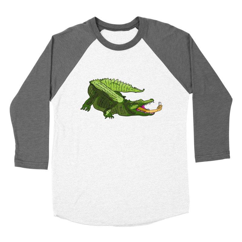selfie with kroko Women's Baseball Triblend T-Shirt by mikbulp's Artist Shop