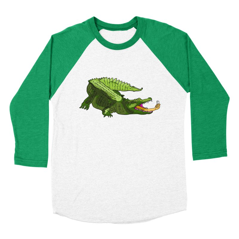 selfie with kroko Women's Baseball Triblend T-Shirt by mikbulp's Artist Shop