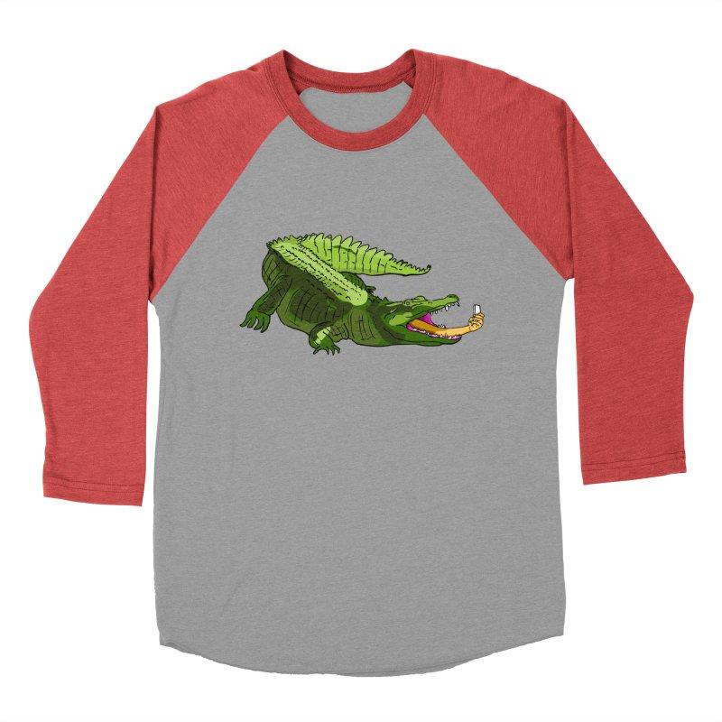 selfie with kroko Men's Baseball Triblend T-Shirt by mikbulp's Artist Shop