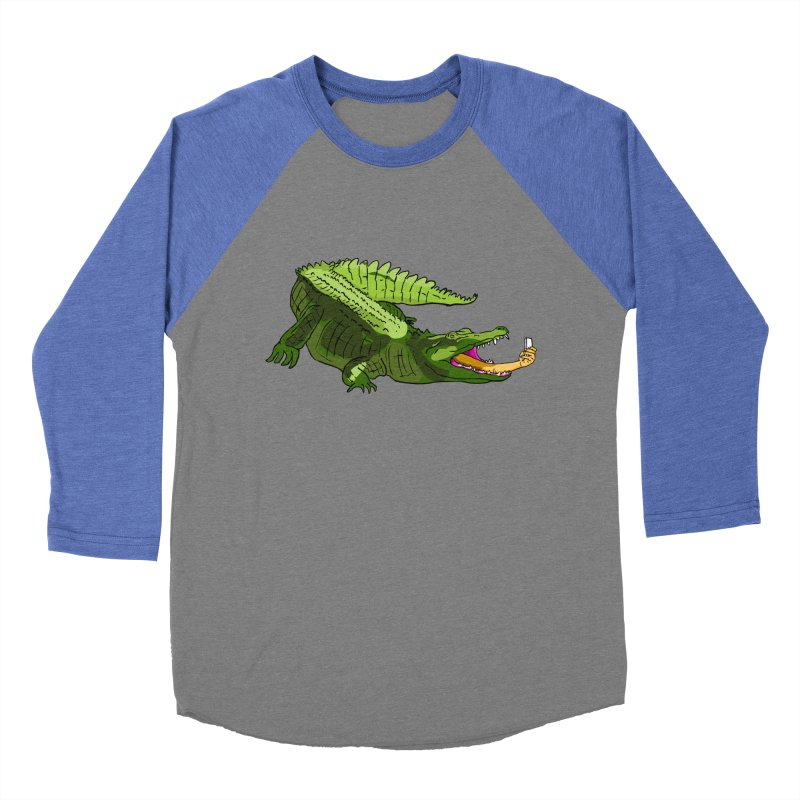 selfie with kroko Men's Baseball Triblend T-Shirt by mikbulp's Artist Shop