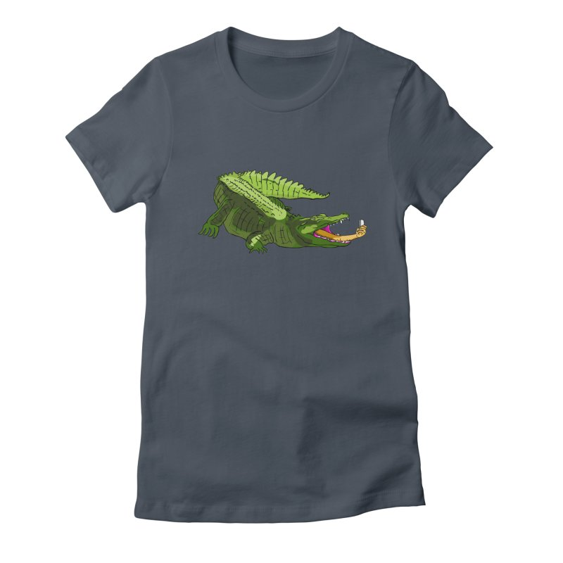 selfie with kroko Women's Fitted T-Shirt by mikbulp's Artist Shop