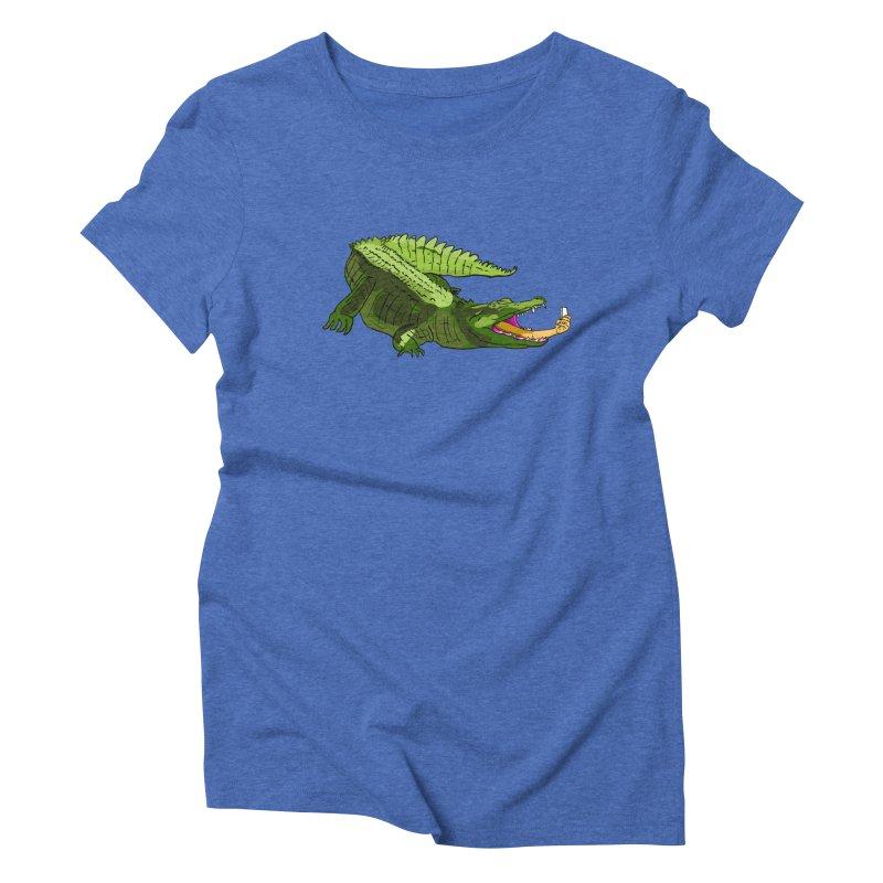 selfie with kroko Women's Triblend T-shirt by mikbulp's Artist Shop