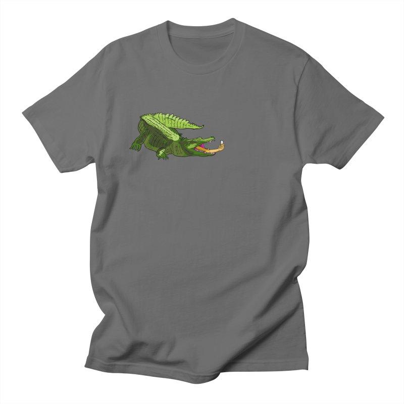 selfie with kroko Men's T-Shirt by mikbulp's Artist Shop