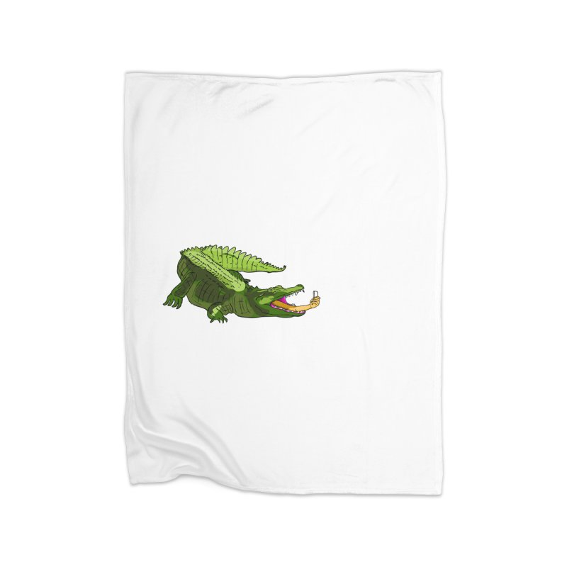selfie with kroko Home Fleece Blanket Blanket by mikbulp's Artist Shop