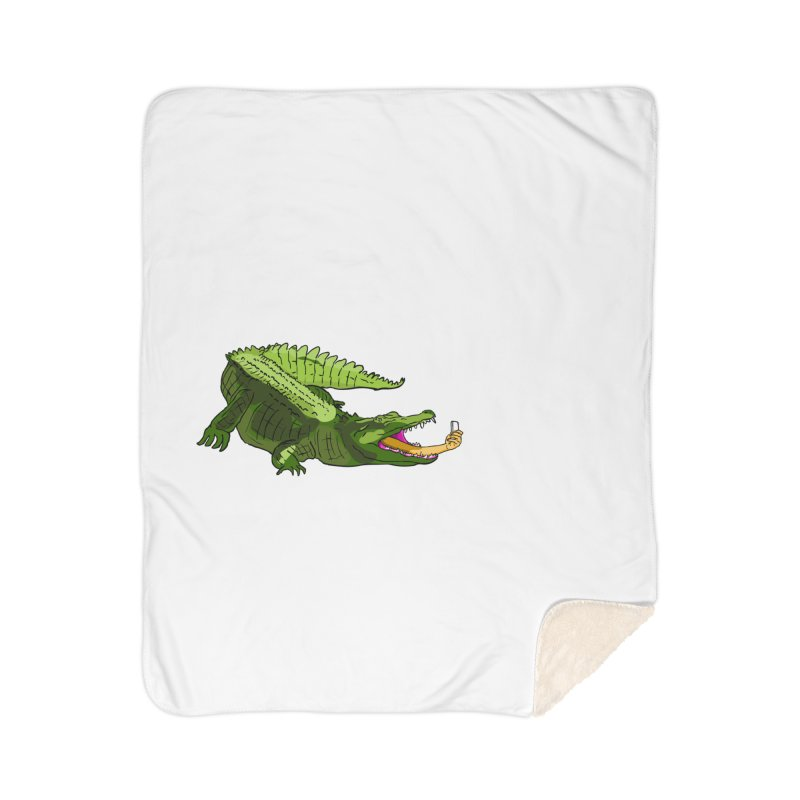 selfie with kroko Home Sherpa Blanket Blanket by mikbulp's Artist Shop