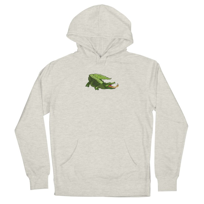 selfie with kroko Men's French Terry Pullover Hoody by mikbulp's Artist Shop