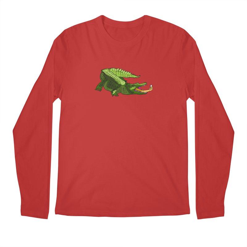 selfie with kroko Men's Regular Longsleeve T-Shirt by mikbulp's Artist Shop