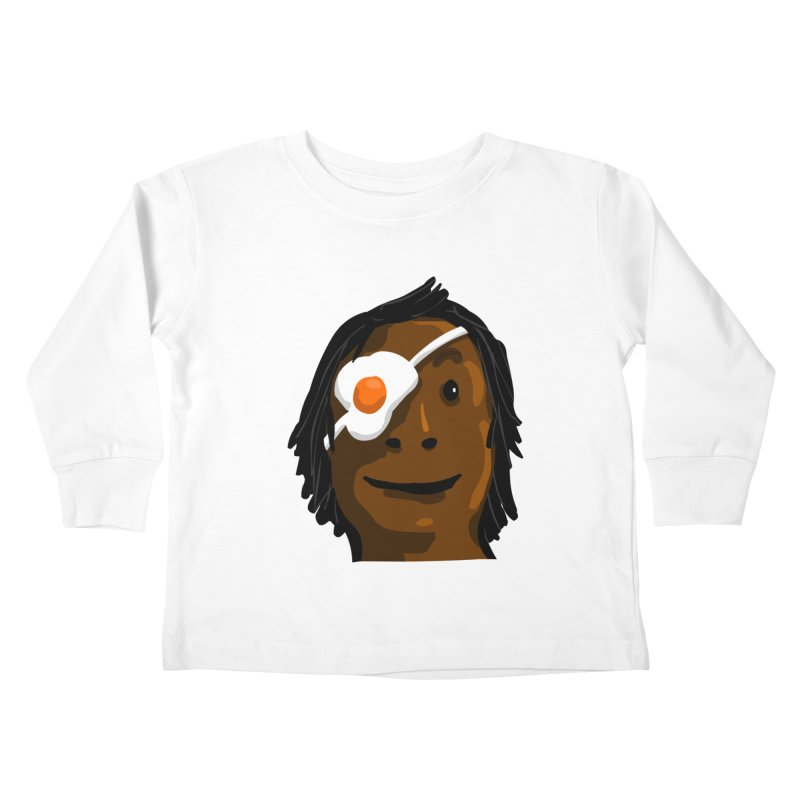 Egghead Kids Toddler Longsleeve T-Shirt by mikbulp's Artist Shop
