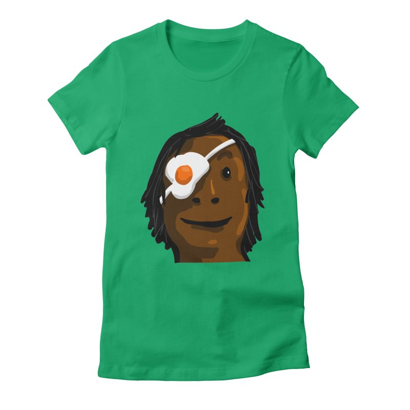 Egghead Women's Fitted T-Shirt by mikbulp's Artist Shop