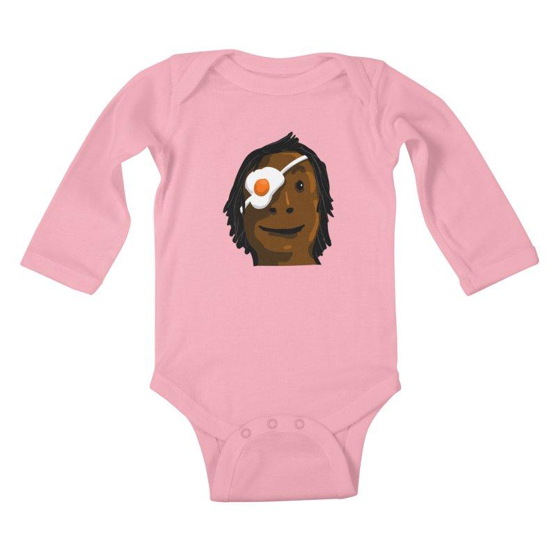 Egghead Kids Baby Longsleeve Bodysuit by mikbulp's Artist Shop