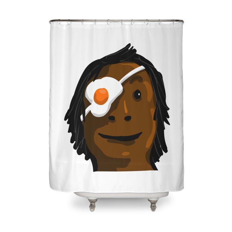 Egghead Home Shower Curtain by mikbulp's Artist Shop