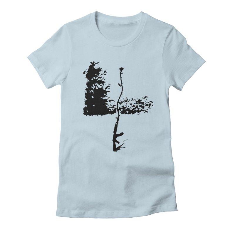 flowerpower Women's Fitted T-Shirt by mikbulp's Artist Shop