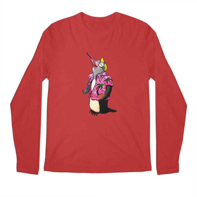 hawaian pingu Men's Longsleeve T-Shirt by mikbulp's Artist Shop