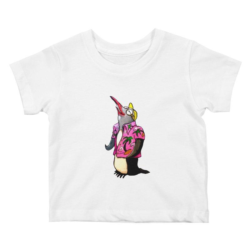hawaian pingu Kids Baby T-Shirt by mikbulp's Artist Shop