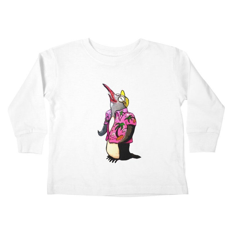 hawaian pingu Kids Toddler Longsleeve T-Shirt by mikbulp's Artist Shop