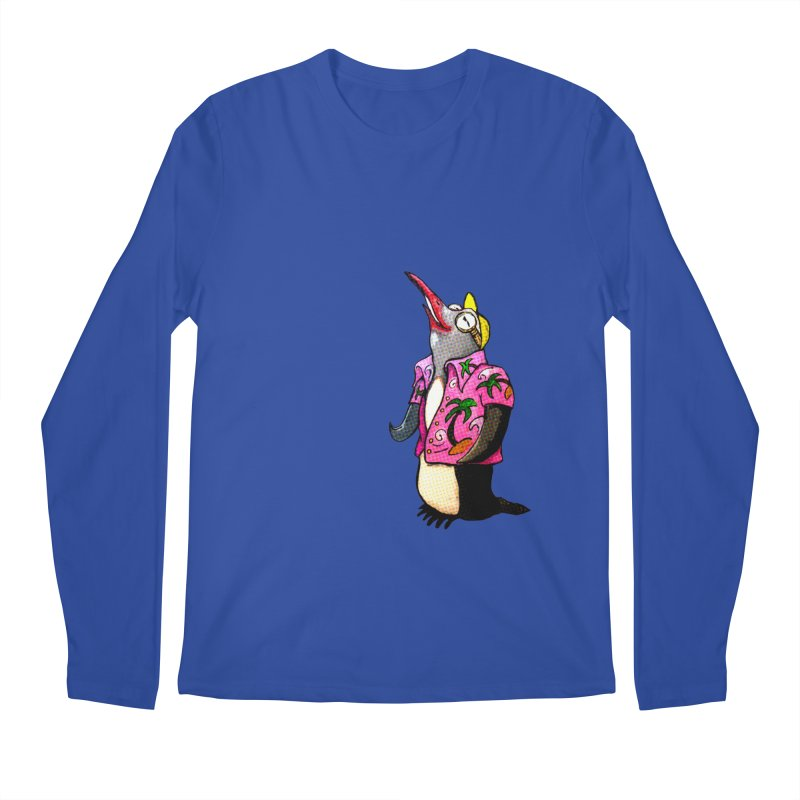 hawaian pingu Men's Regular Longsleeve T-Shirt by mikbulp's Artist Shop