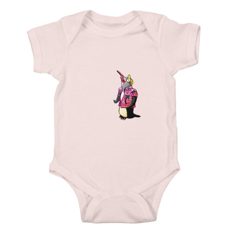 hawaian pingu Kids Baby Bodysuit by mikbulp's Artist Shop