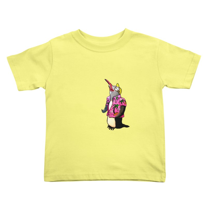 hawaian pingu Kids Toddler T-Shirt by mikbulp's Artist Shop
