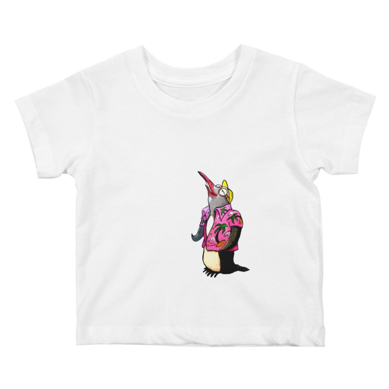 hawaian pingu Kids Baby T-Shirt by mikbulp's Artist Shop