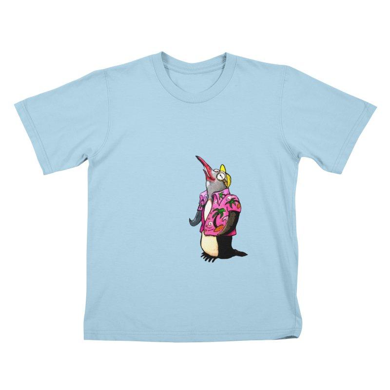 hawaian pingu Kids T-Shirt by mikbulp's Artist Shop