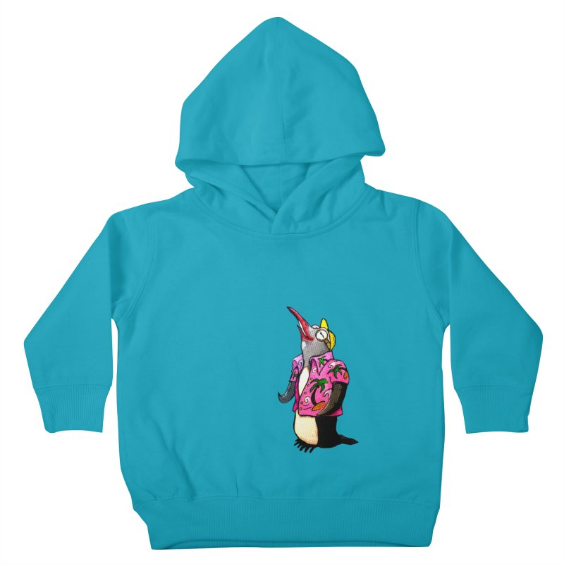 hawaian pingu Kids Toddler Pullover Hoody by mikbulp's Artist Shop