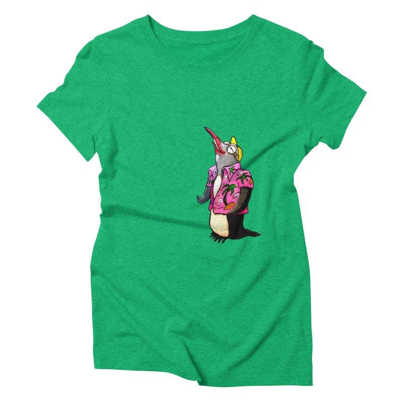 hawaian pingu Women's Triblend T-Shirt by mikbulp's Artist Shop