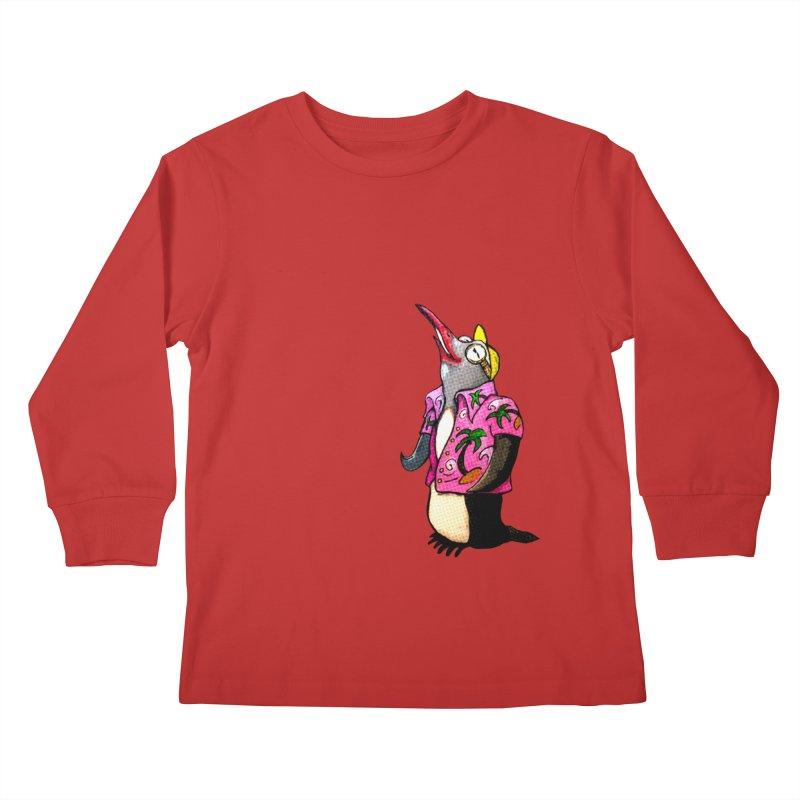 hawaian pingu Kids Longsleeve T-Shirt by mikbulp's Artist Shop