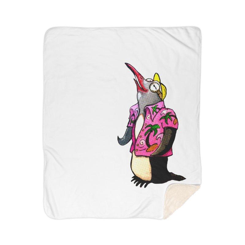 hawaian pingu Home Sherpa Blanket Blanket by mikbulp's Artist Shop