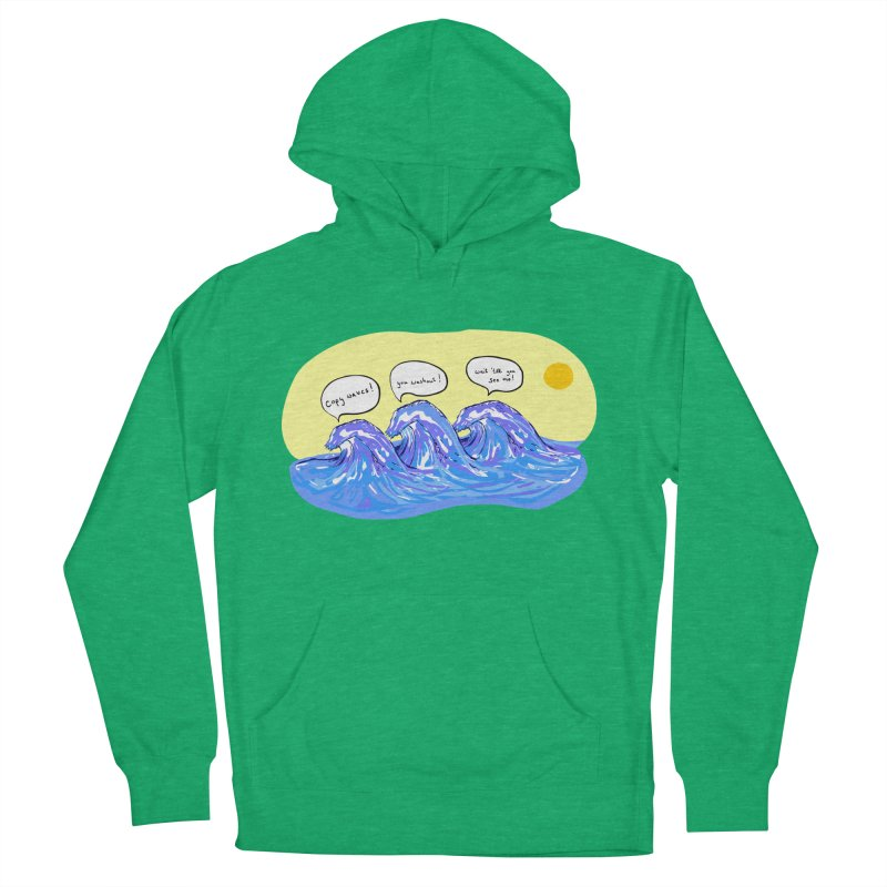 wave to waves Women's Pullover Hoody by mikbulp's Artist Shop