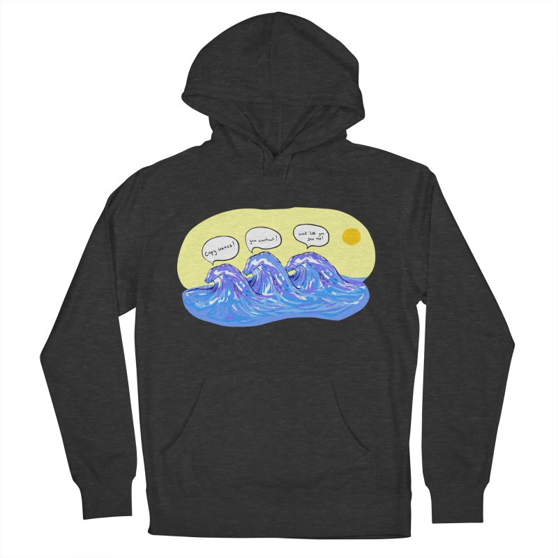 wave to waves Men's Pullover Hoody by mikbulp's Artist Shop