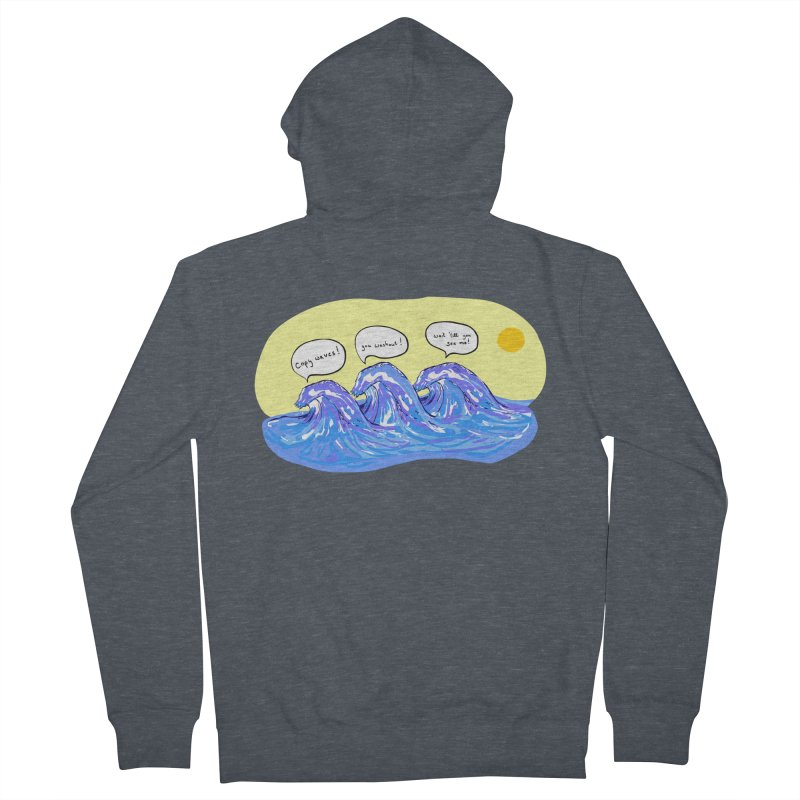 wave to waves Men's Zip-Up Hoody by mikbulp's Artist Shop