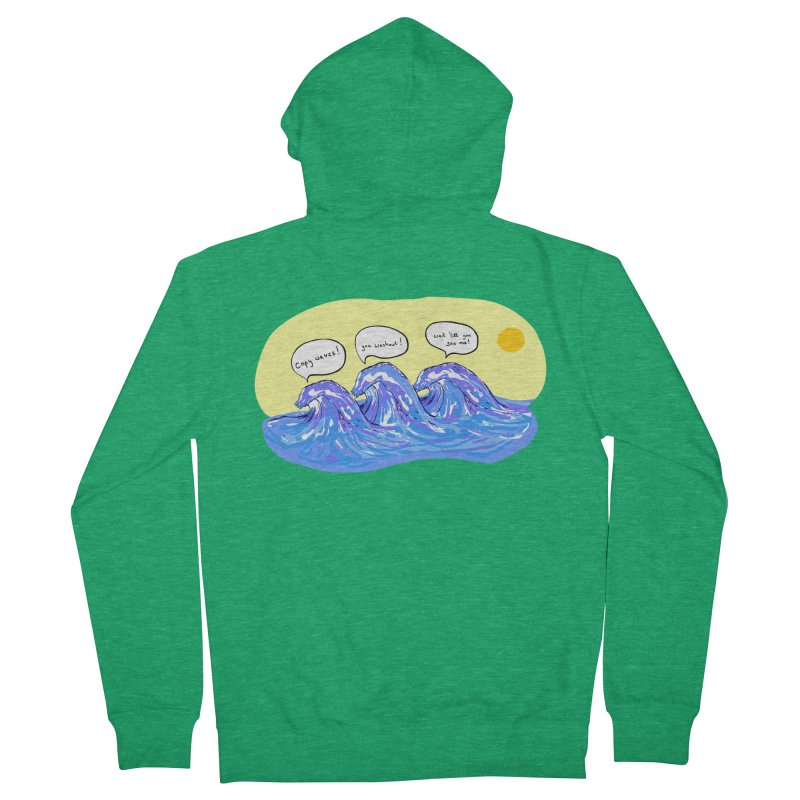 wave to waves Men's Zip-Up Hoody by mikbulp's Artist Shop
