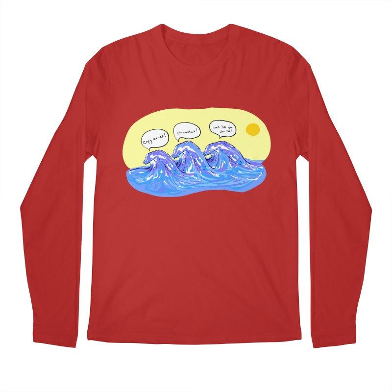 wave to waves Men's Longsleeve T-Shirt by mikbulp's Artist Shop