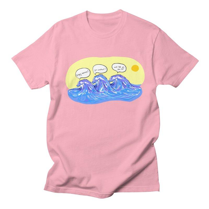 wave to waves Men's T-shirt by mikbulp's Artist Shop