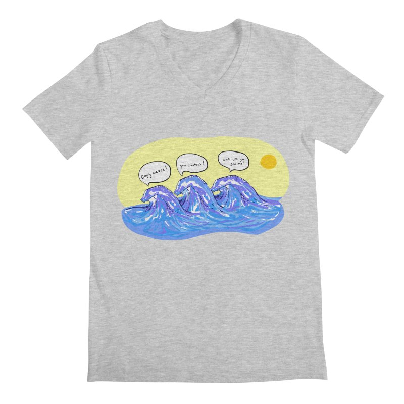 wave to waves Men's V-Neck by mikbulp's Artist Shop
