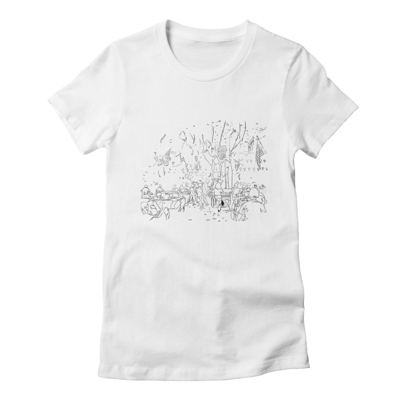 Troya Women's Fitted T-Shirt by mikbulp's Artist Shop
