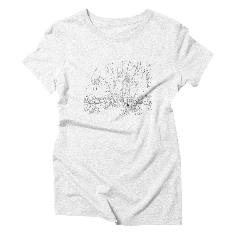 Troya Women's Triblend T-shirt by mikbulp's Artist Shop