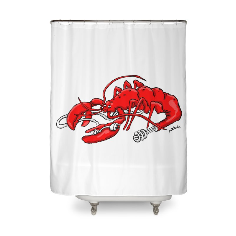 lobsterlution Home Shower Curtain by mikbulp's Artist Shop