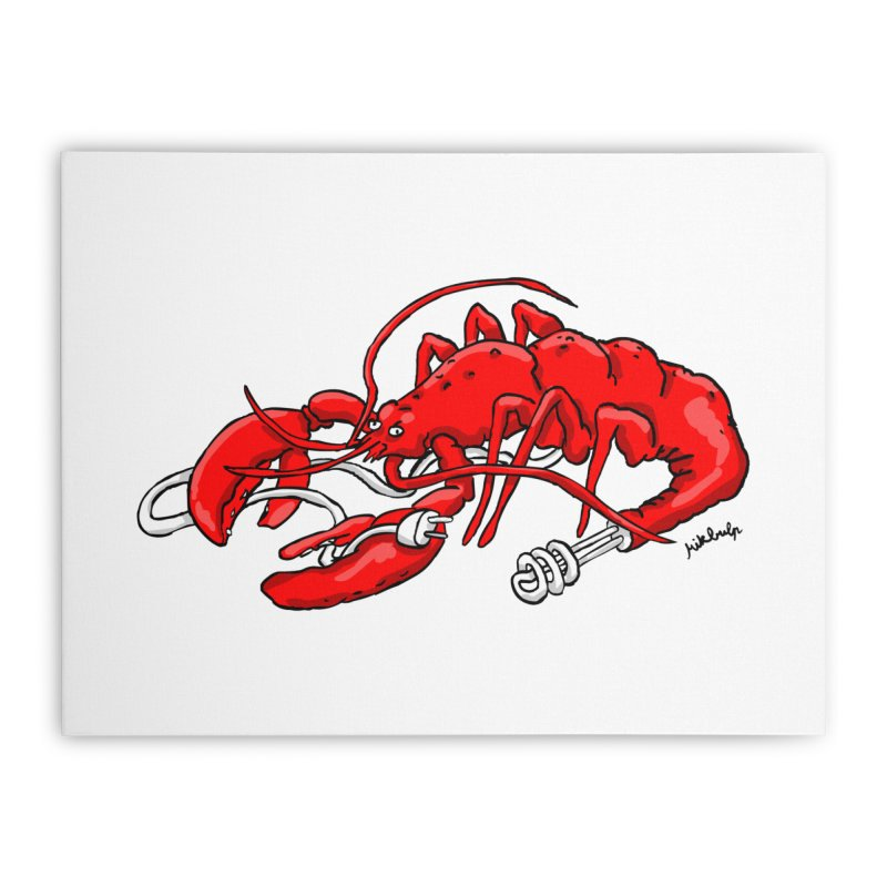 lobsterlution Home Stretched Canvas by mikbulp's Artist Shop