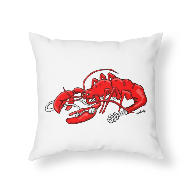 lobsterlution Home Throw Pillow by mikbulp's Artist Shop