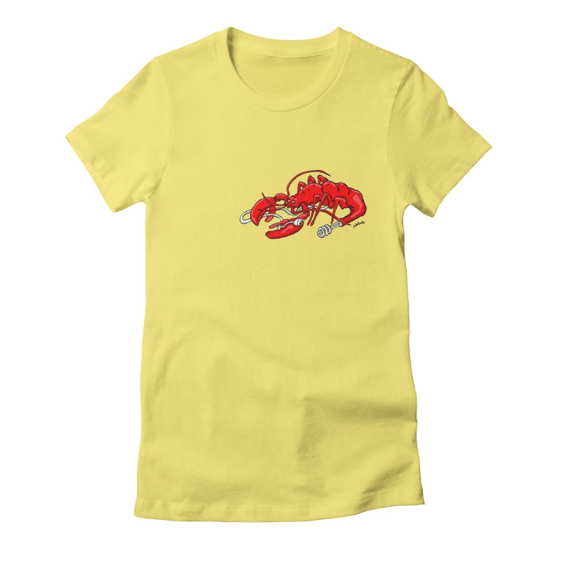 lobsterlution Women's Fitted T-Shirt by mikbulp's Artist Shop