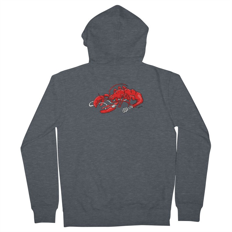 lobsterlution Women's French Terry Zip-Up Hoody by mikbulp's Artist Shop