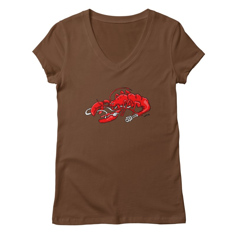 lobsterlution Women's Regular V-Neck by mikbulp's Artist Shop