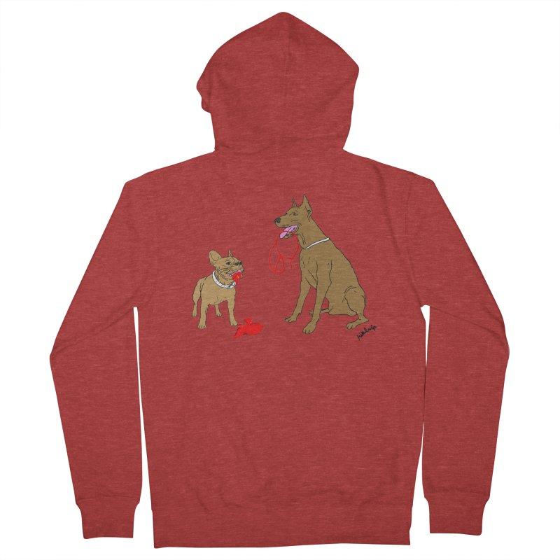 peace & love & dogs Men's Zip-Up Hoody by mikbulp's Artist Shop