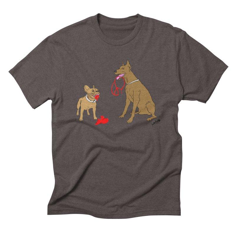 peace & love & dogs Men's Triblend T-Shirt by mikbulp's Artist Shop